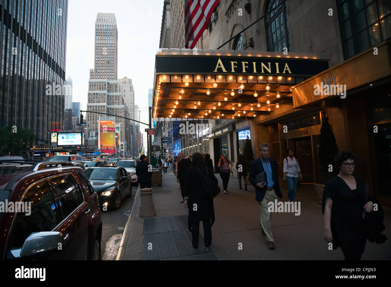 new york city affinia manhattan building outside on 7th avenue at
