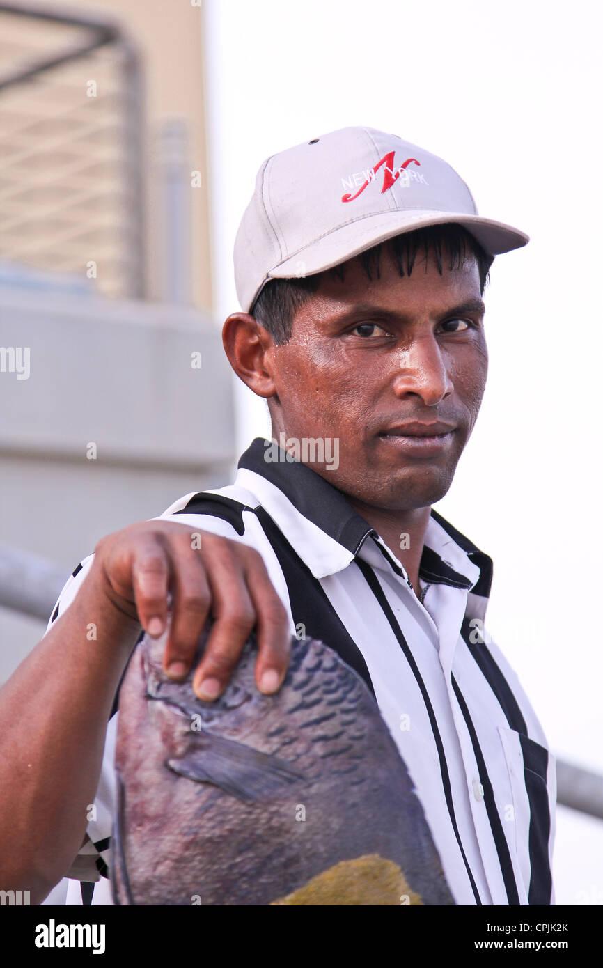 fisher man, Kuwait city - Stock Image