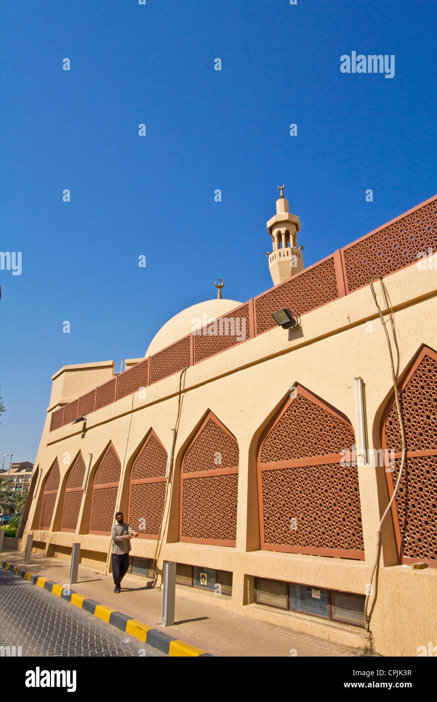 Modern Mosque in Kuwait city - Stock Image