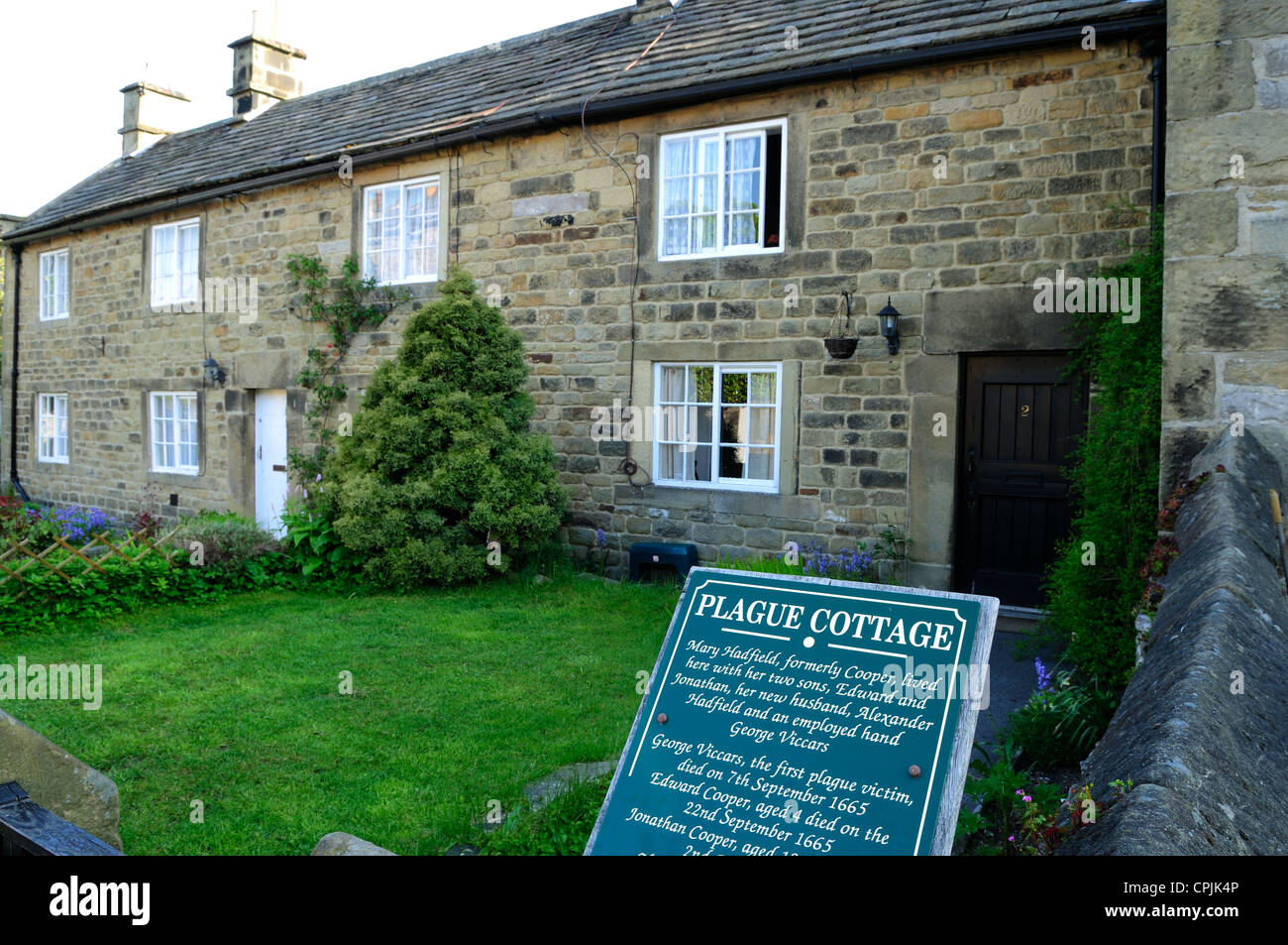 Eyam Plague Village Derbyshire England.Plague Cottage's . - Stock Image
