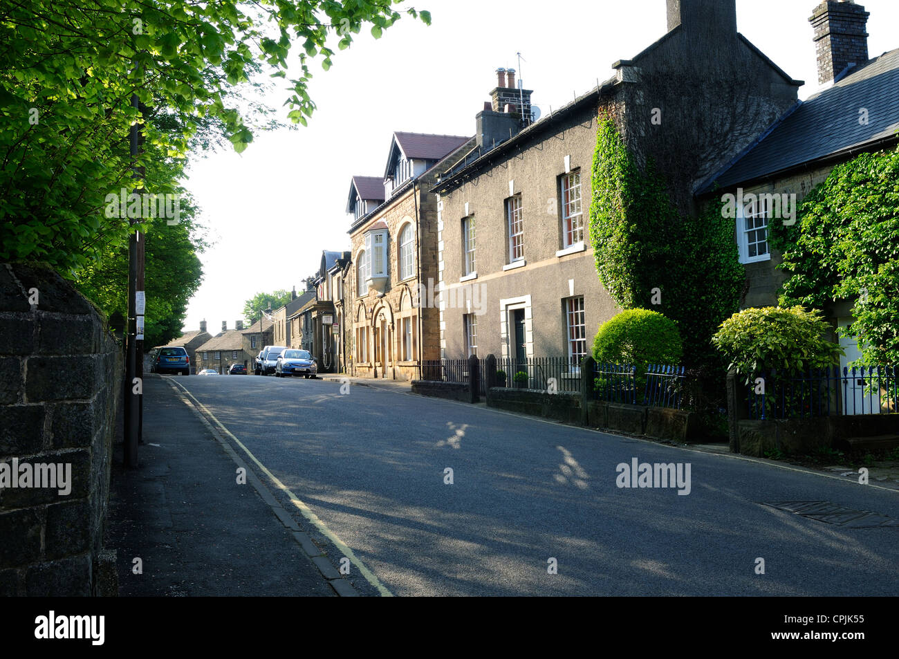 Eyam Plague Village Derbyshire England.Main Street. - Stock Image
