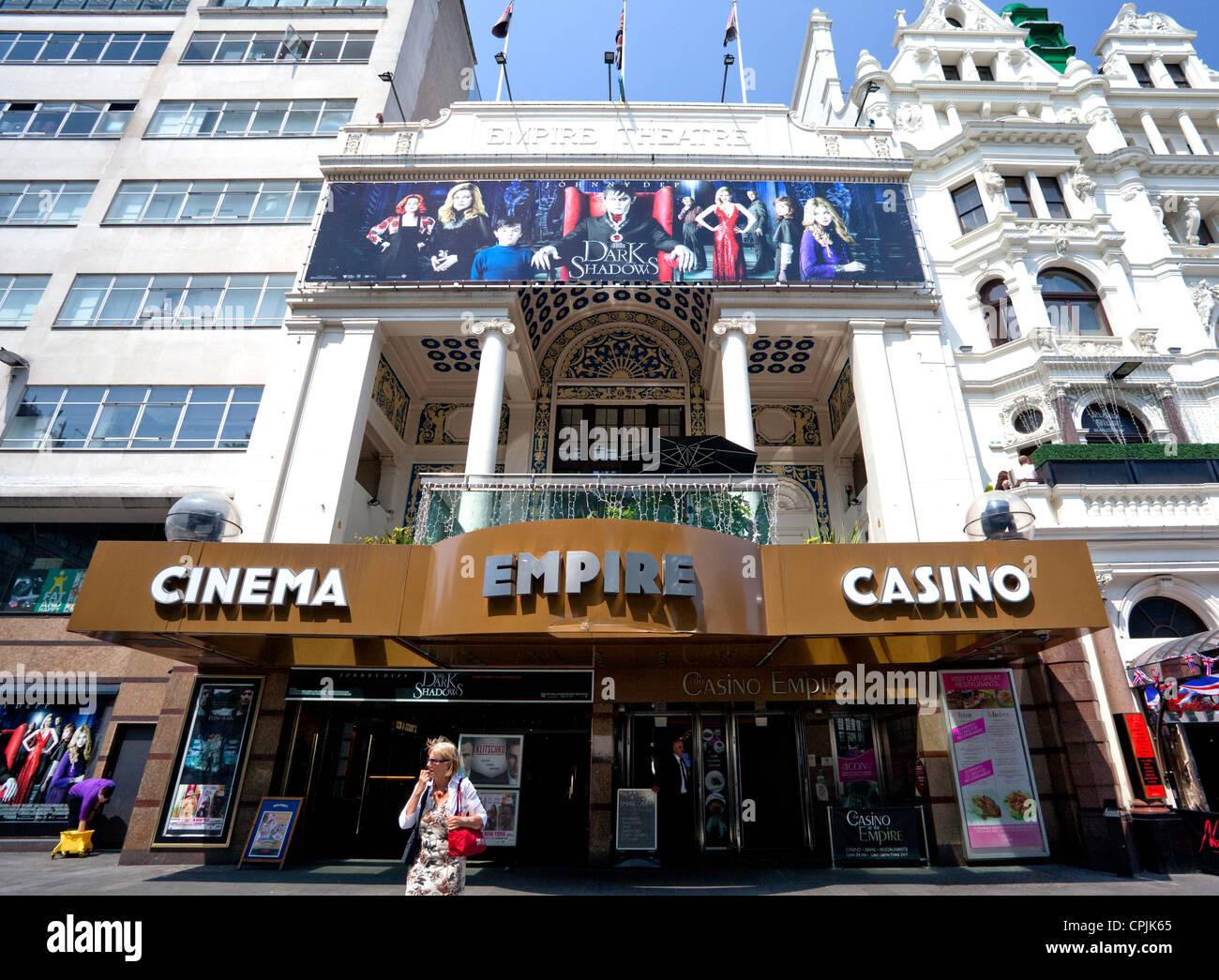 Empire cinema & casino in Leicester Square, London - Stock Image
