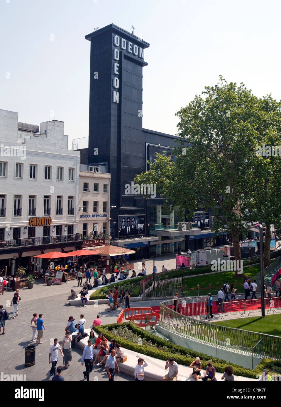 Newly redesigned Leicester Square in London's West End - Stock Image