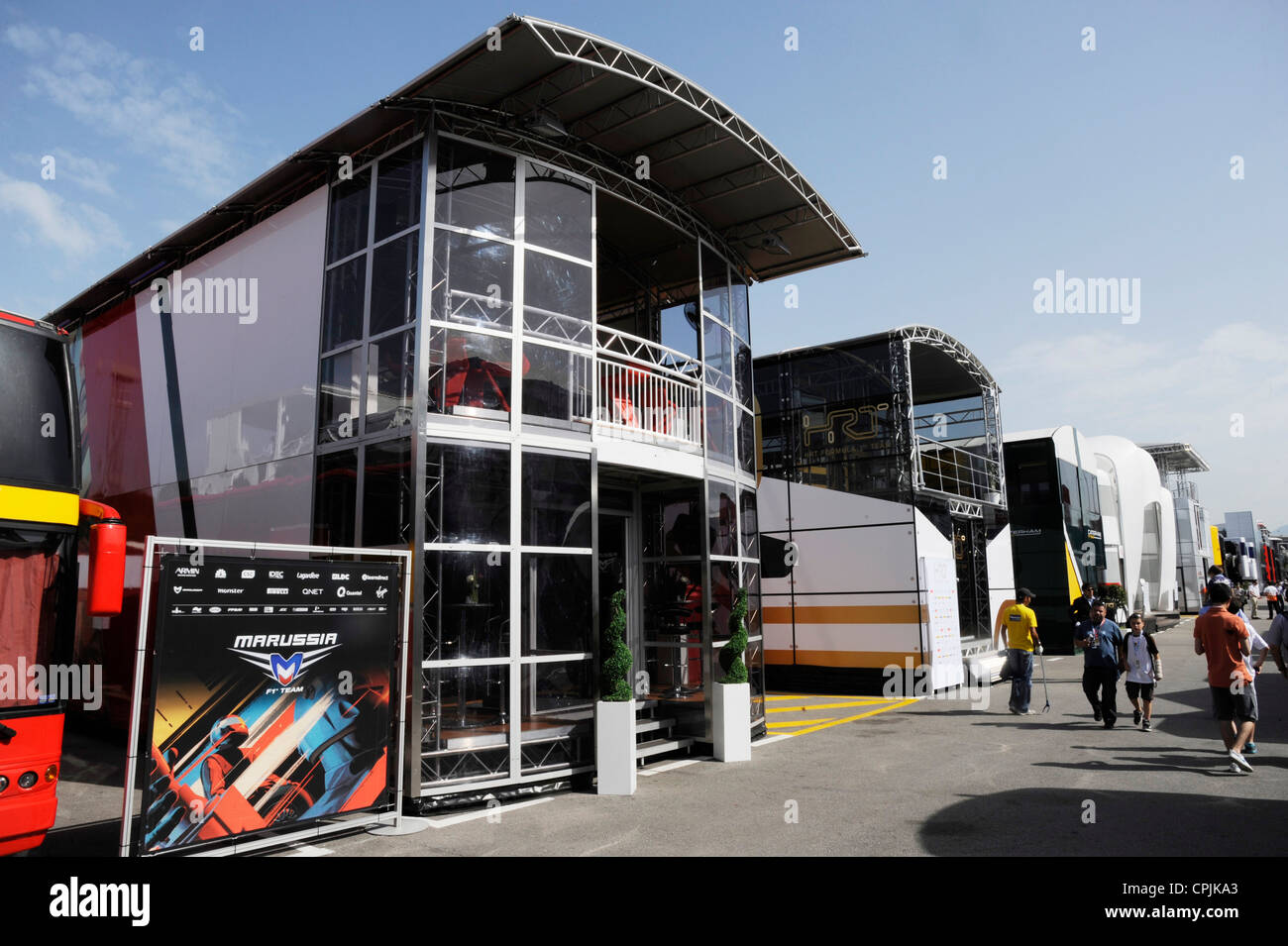 Marussia Virgin Team Hospitality  during the Formula One Grand Prix of Spain 2012 - Stock Image