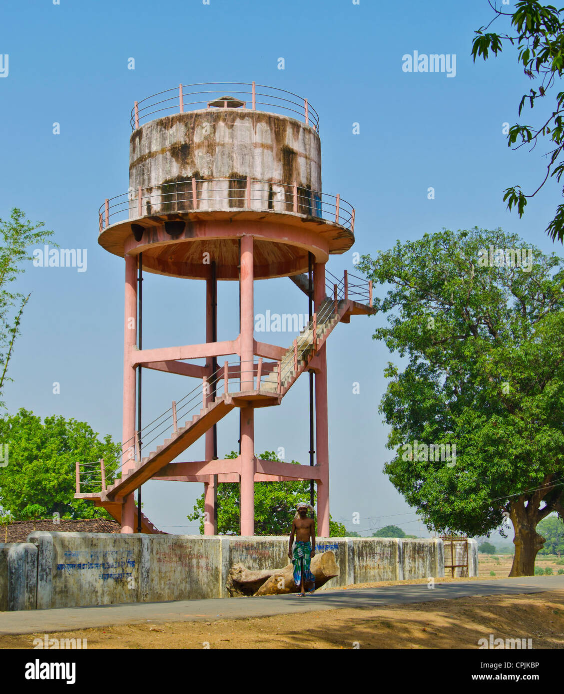 Mountain Vista Water Tank Bell : Indian village road nobody stock photos