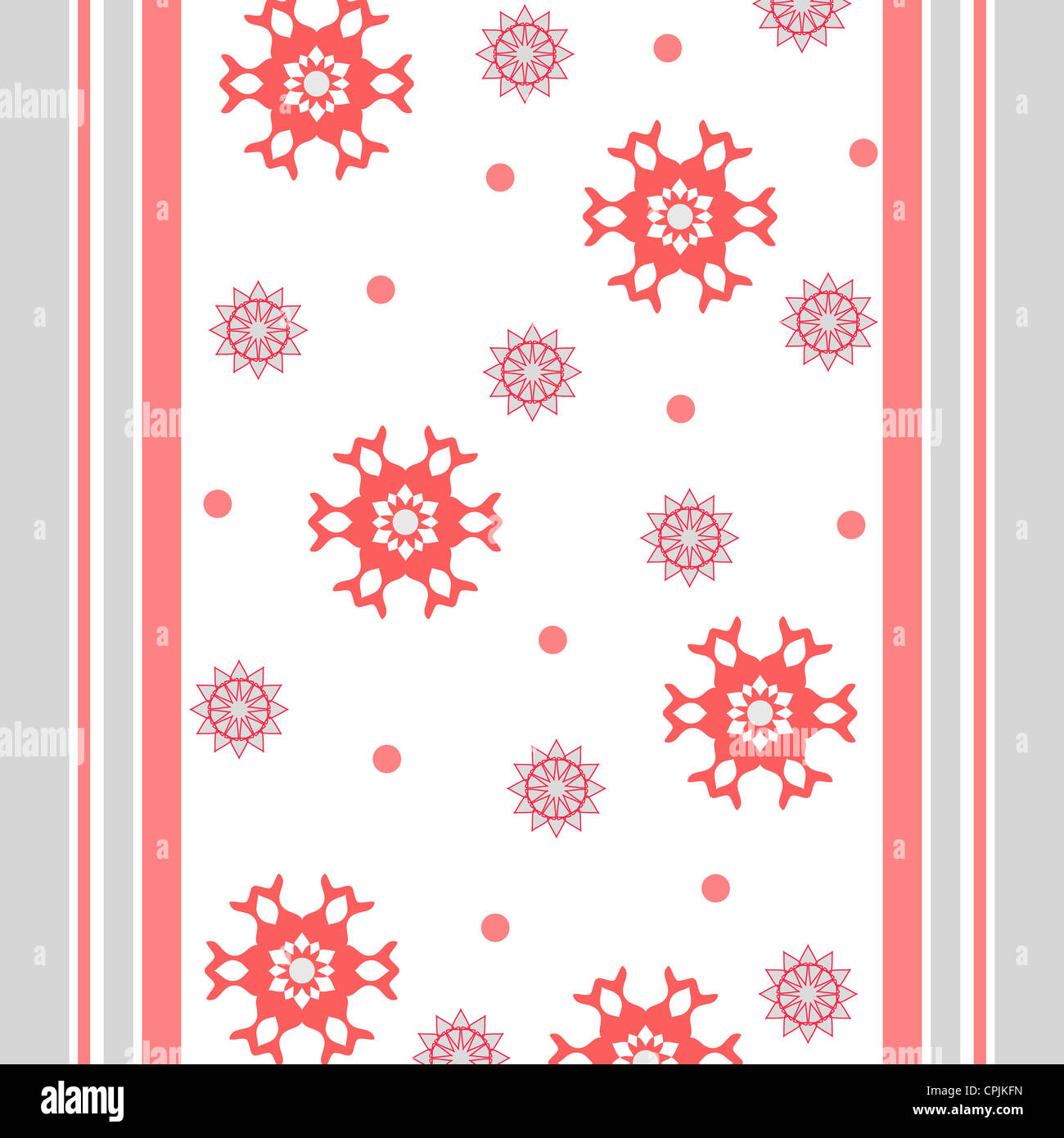 Artistic flowers and stripes pattern Stock Photo