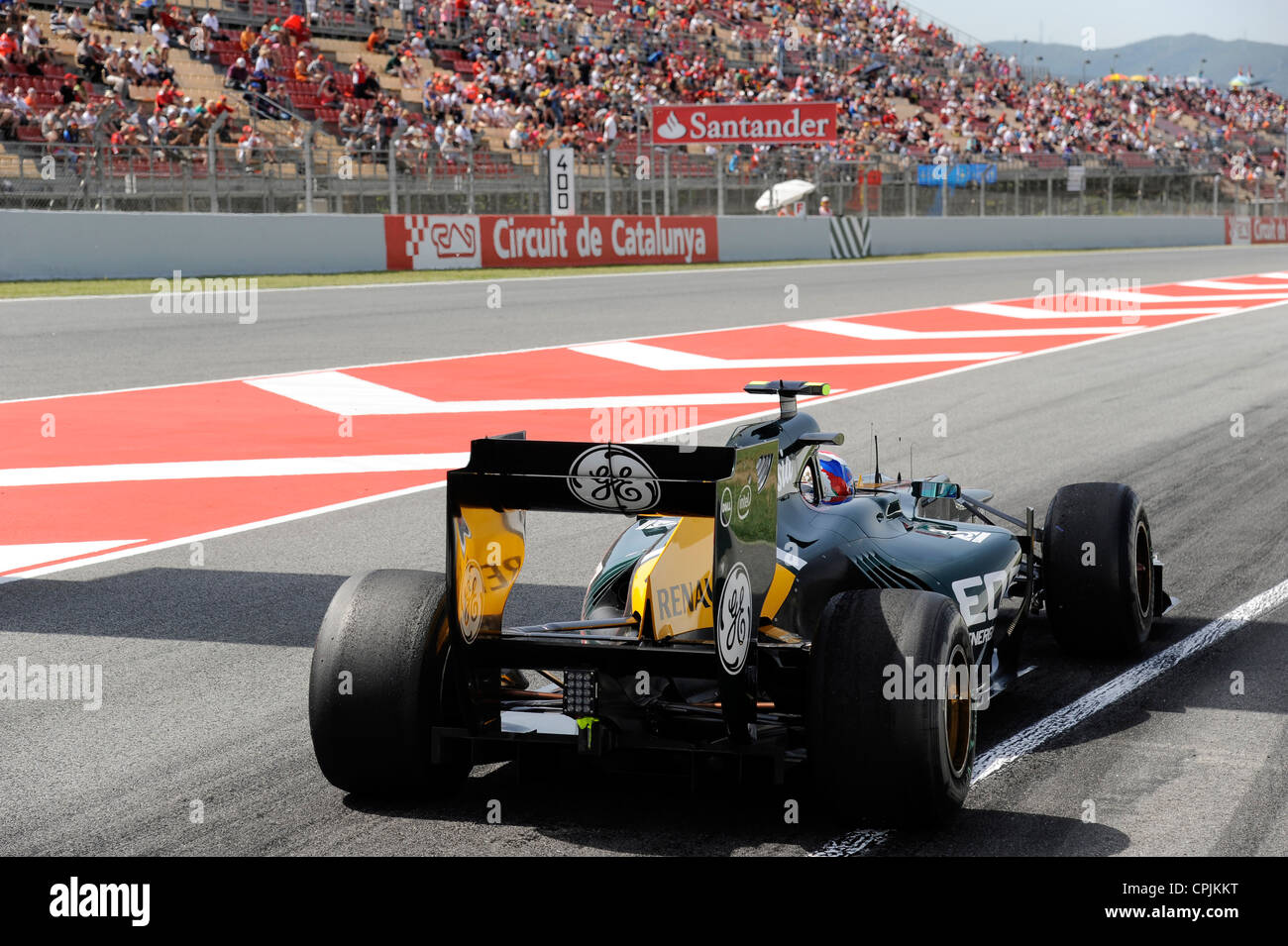 Witali (Vitaly) Petrow (Petrov) (RUS) im Caterham CT01 during the Formula One Grand Prix of Spain 2012 - Stock Image