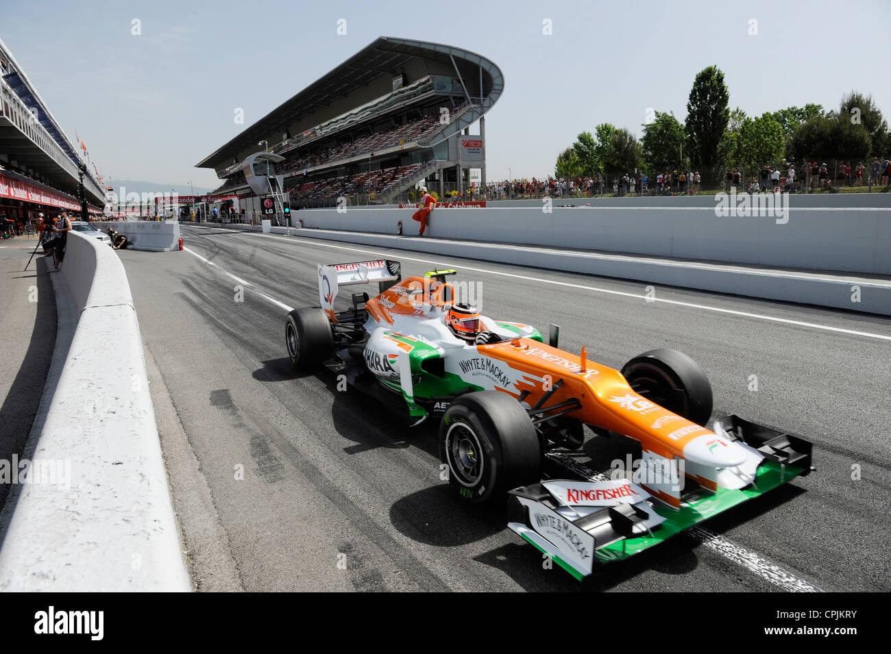 Nico Hülkenberg (Huelkenberg, GER) im Force India VJM05 during the Formula One Grand Prix of Spain 2012 - Stock Image