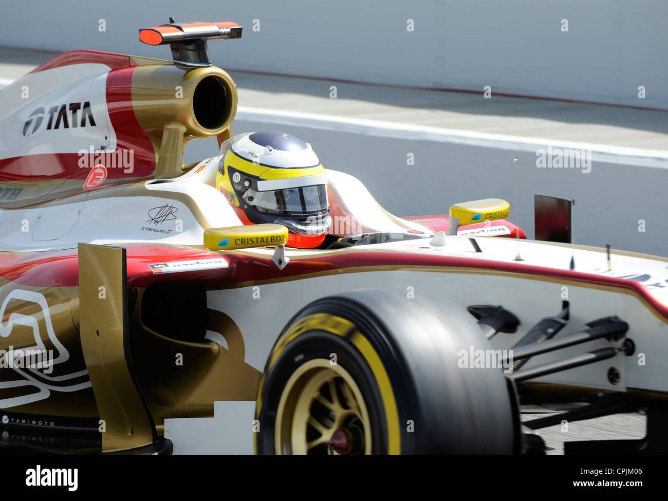 Pedro De La Rosa (ESP) im HRT F111 during the Formula One Grand Prix of Spain 2012 - Stock Image