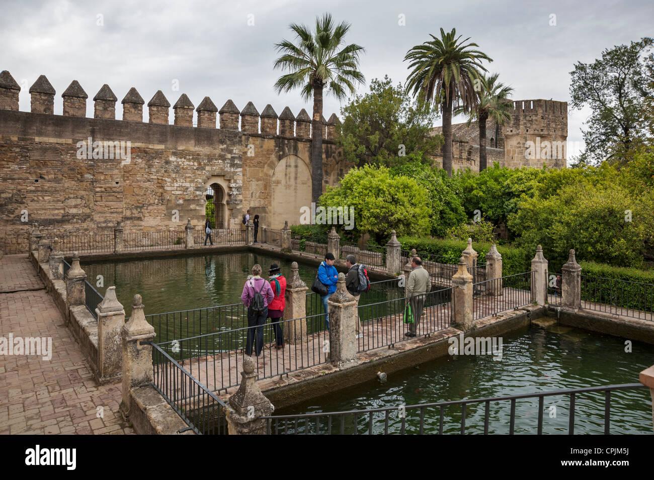 The Alcazar de los Reyes Cristianos Cordoba Andalusia Spain - Stock Image
