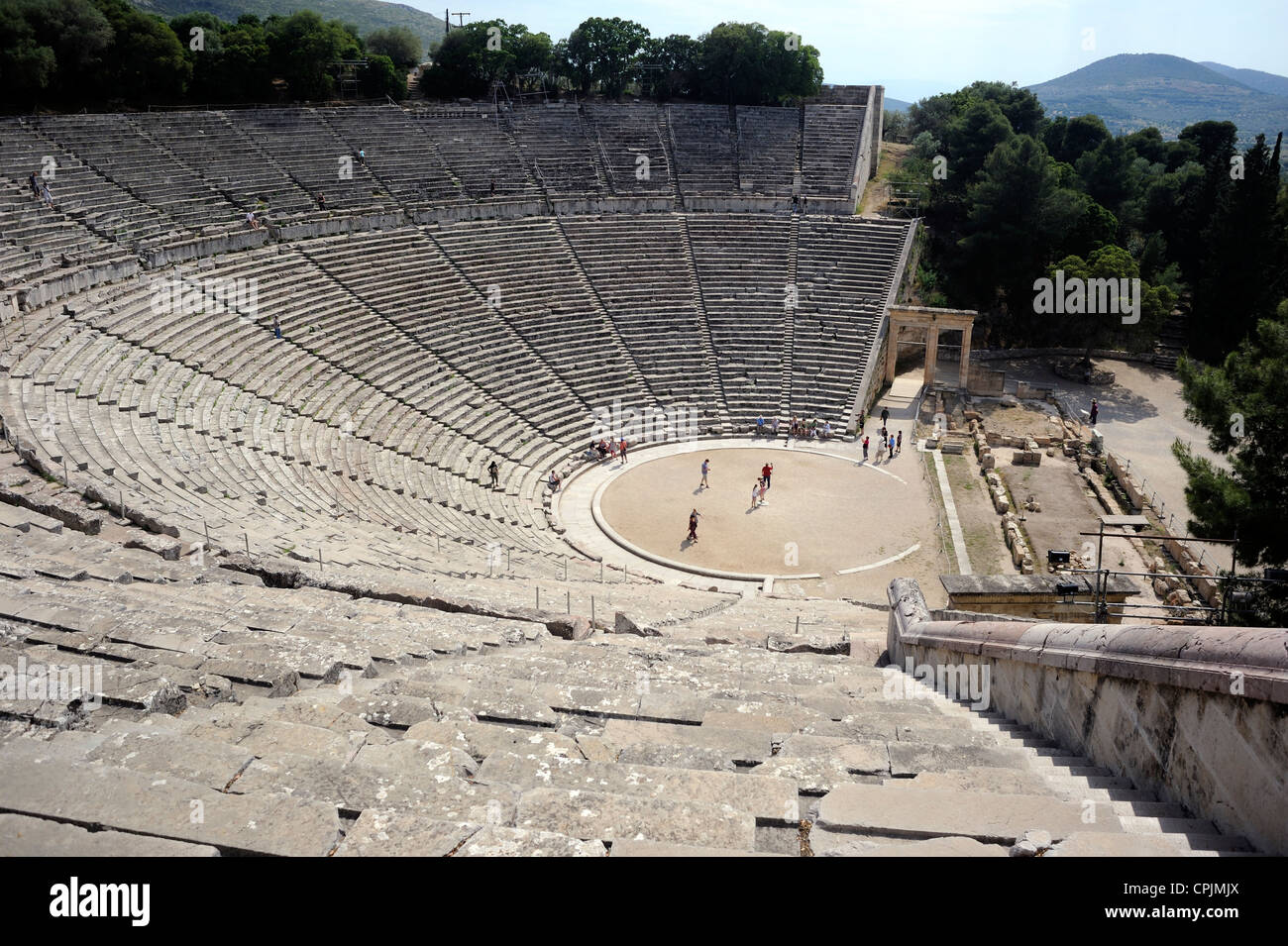 Peloponnese, Greece, Epidaurus ancient theatre - Stock Image