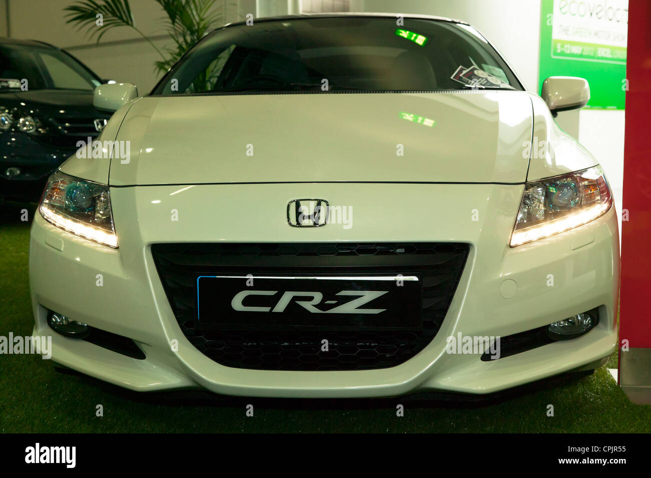 Front view of a Honda CR-Z, on static display at ecovelocity, 2012 - Stock Image