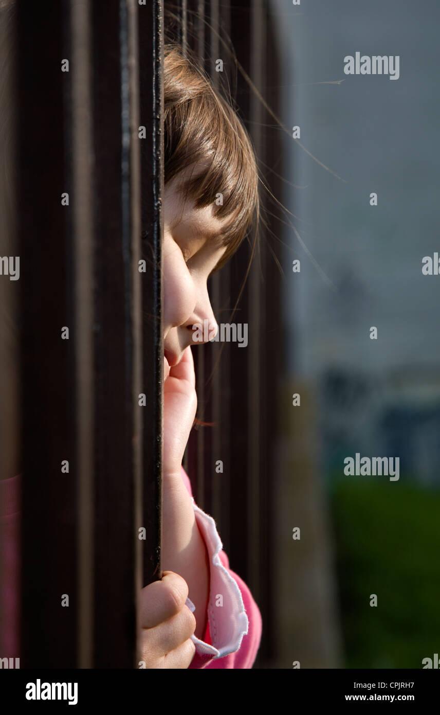 little girl - melancholy - Stock Image
