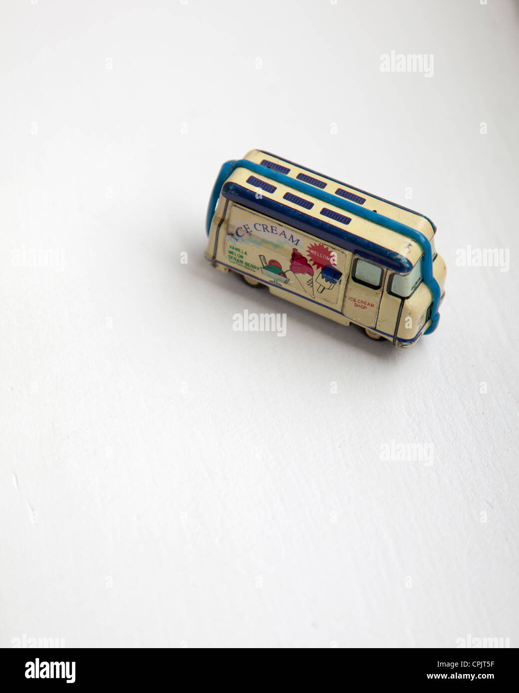 Kaz Ice Cream Van Tin Toy - Stock Image