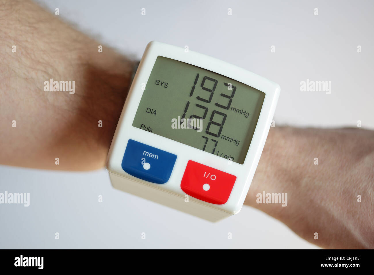 High blood pressure - Stock Image