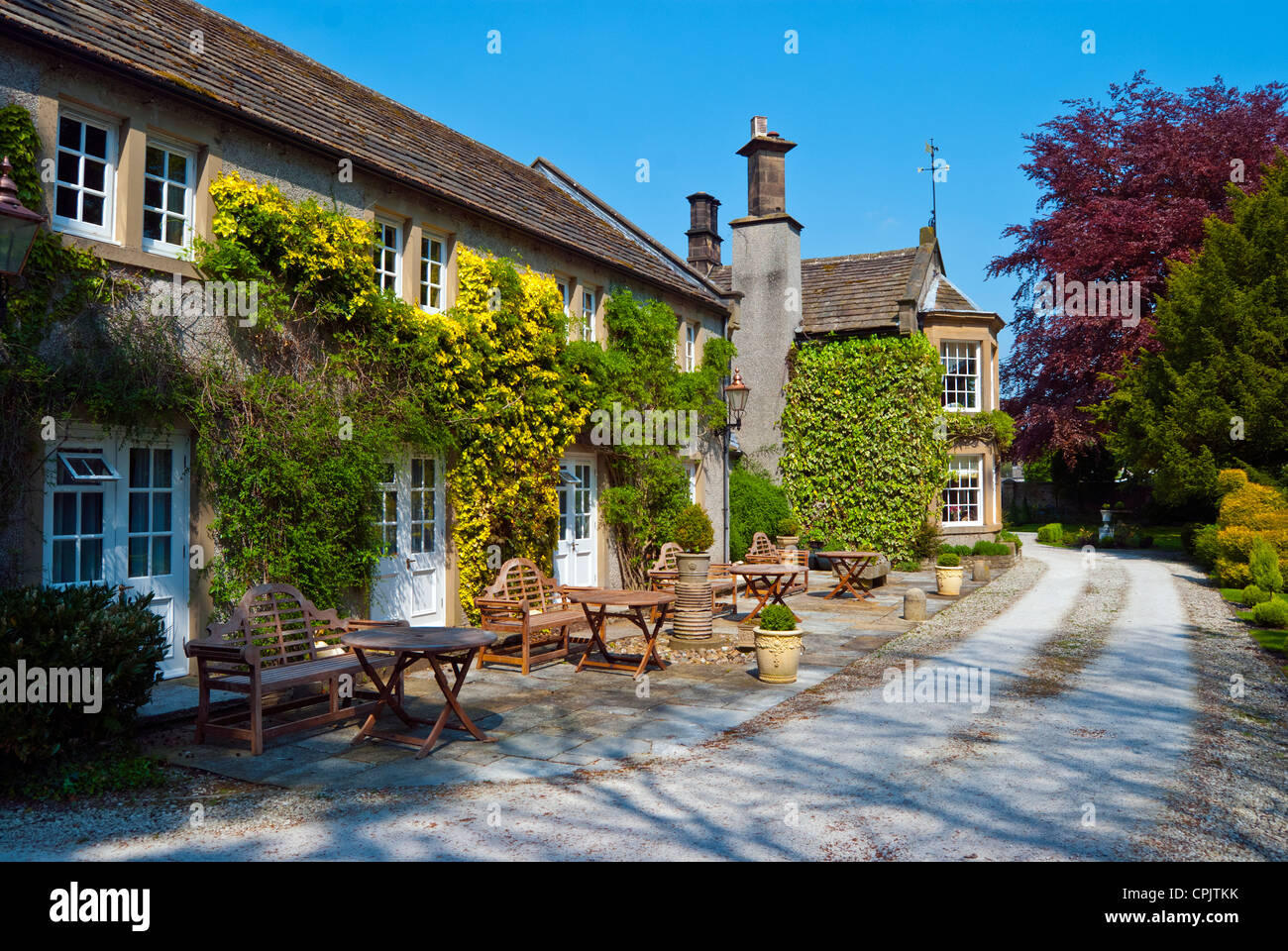 Riverside House Hotel and Restaurant, Ashford in the Water, Derbyshire Stock Photo