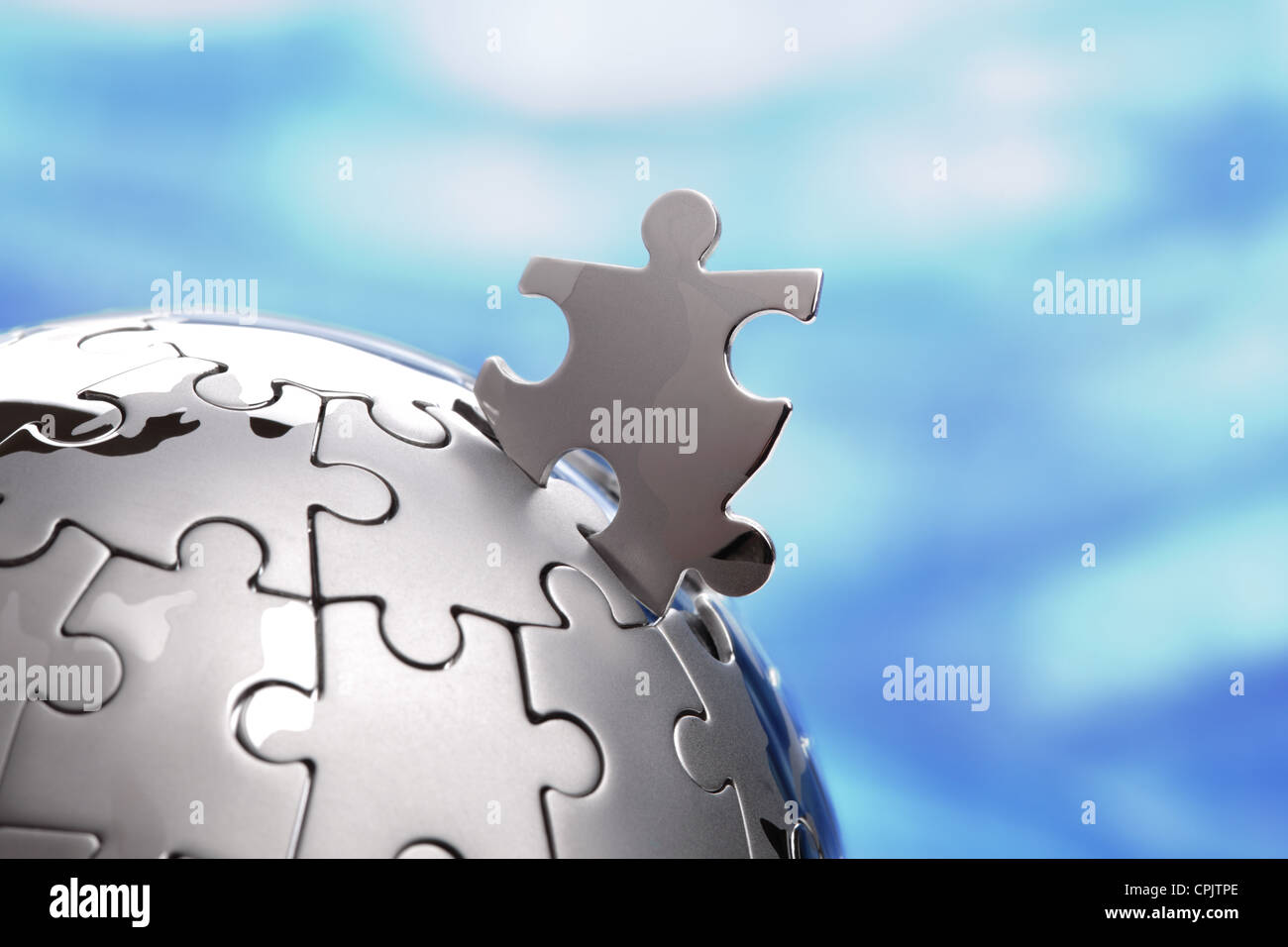 Global solution - Stock Image