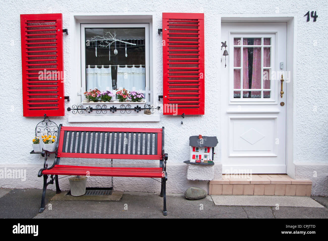 part of a house in the old town of Arnsberg, Sauerland, North Rhine-Westfalia, Germany Stock Photo