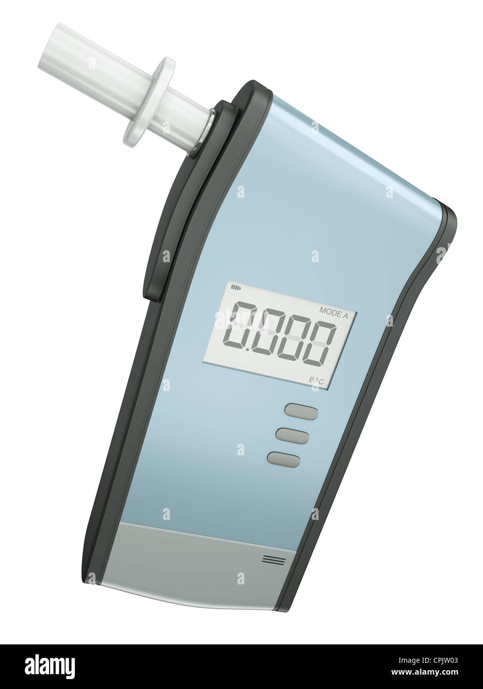 Breathyzer For Measuring Blood Alcohol Content Isolated On White Background 3d Render