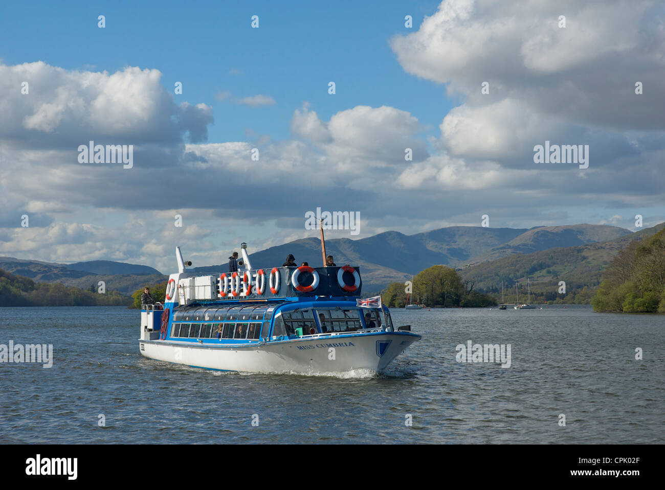 Miss Cumbria, one of the launches operated by Windermere Lake Cruises, Lake District National Park, Cumbria, England - Stock Image