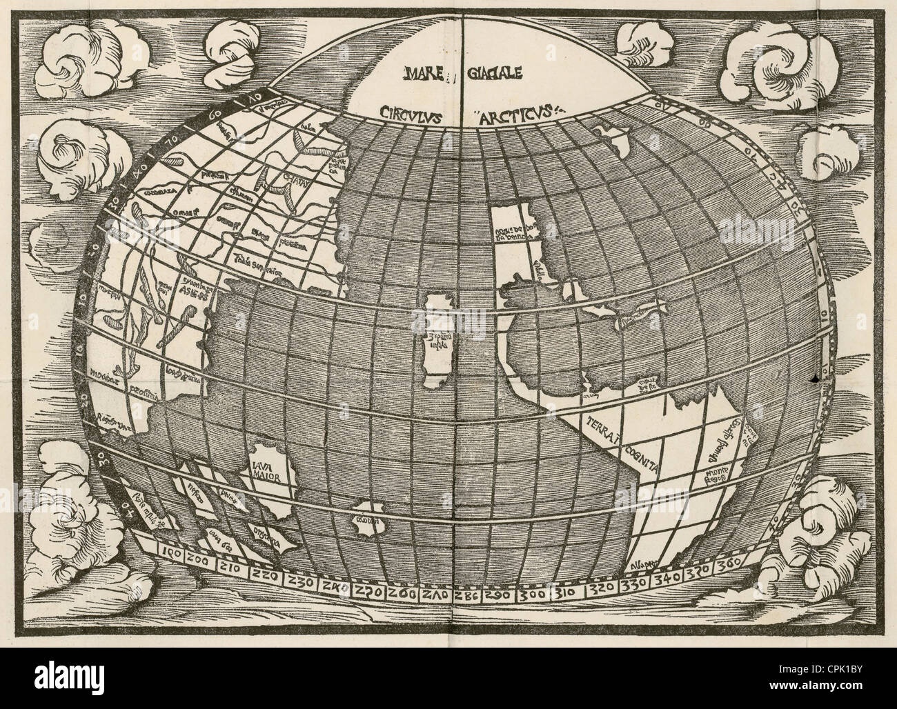 Early 1500s World Map Stock Photo 48361375 Alamy