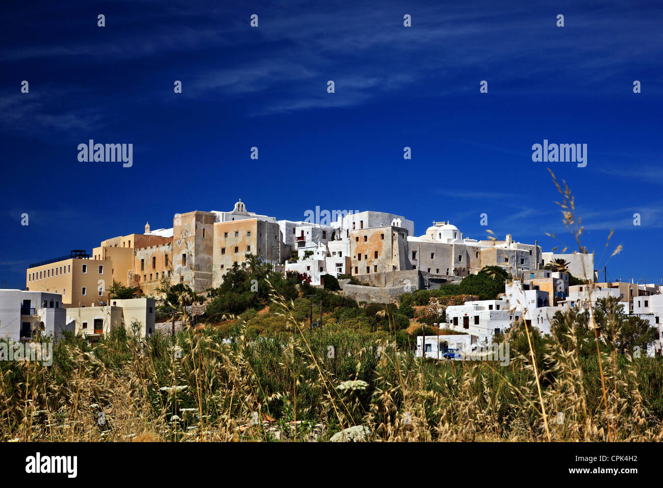 The 'backside' of the Caste of Sanoudos , Chora ('capital') of Naxos island, Cyclades, Greece. - Stock Image