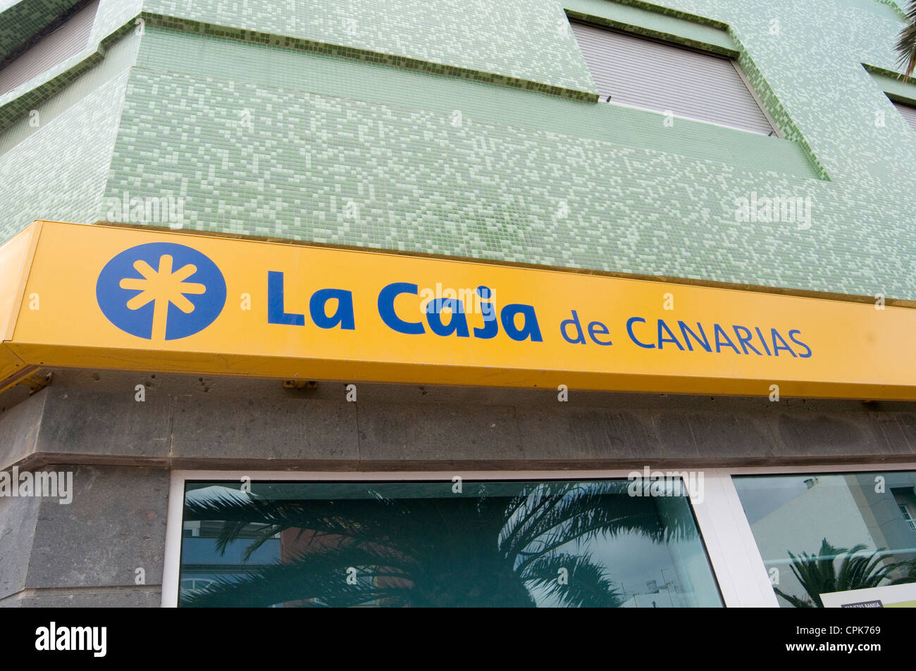 la caja de canarias subsidiary of Bankia Spanish bank banks banking - Stock Image