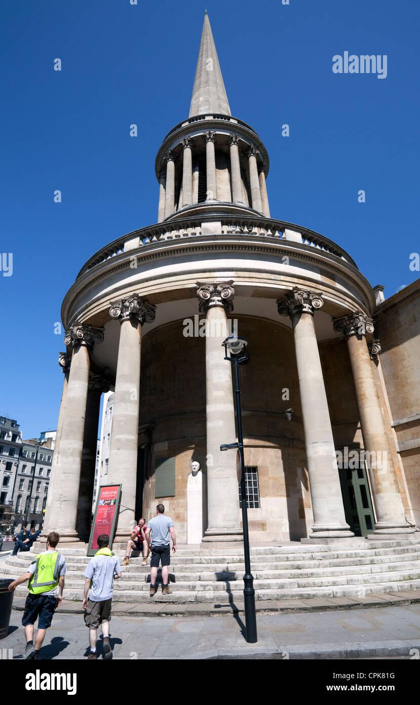 All Souls Church, Langham Place, London Stock Photo