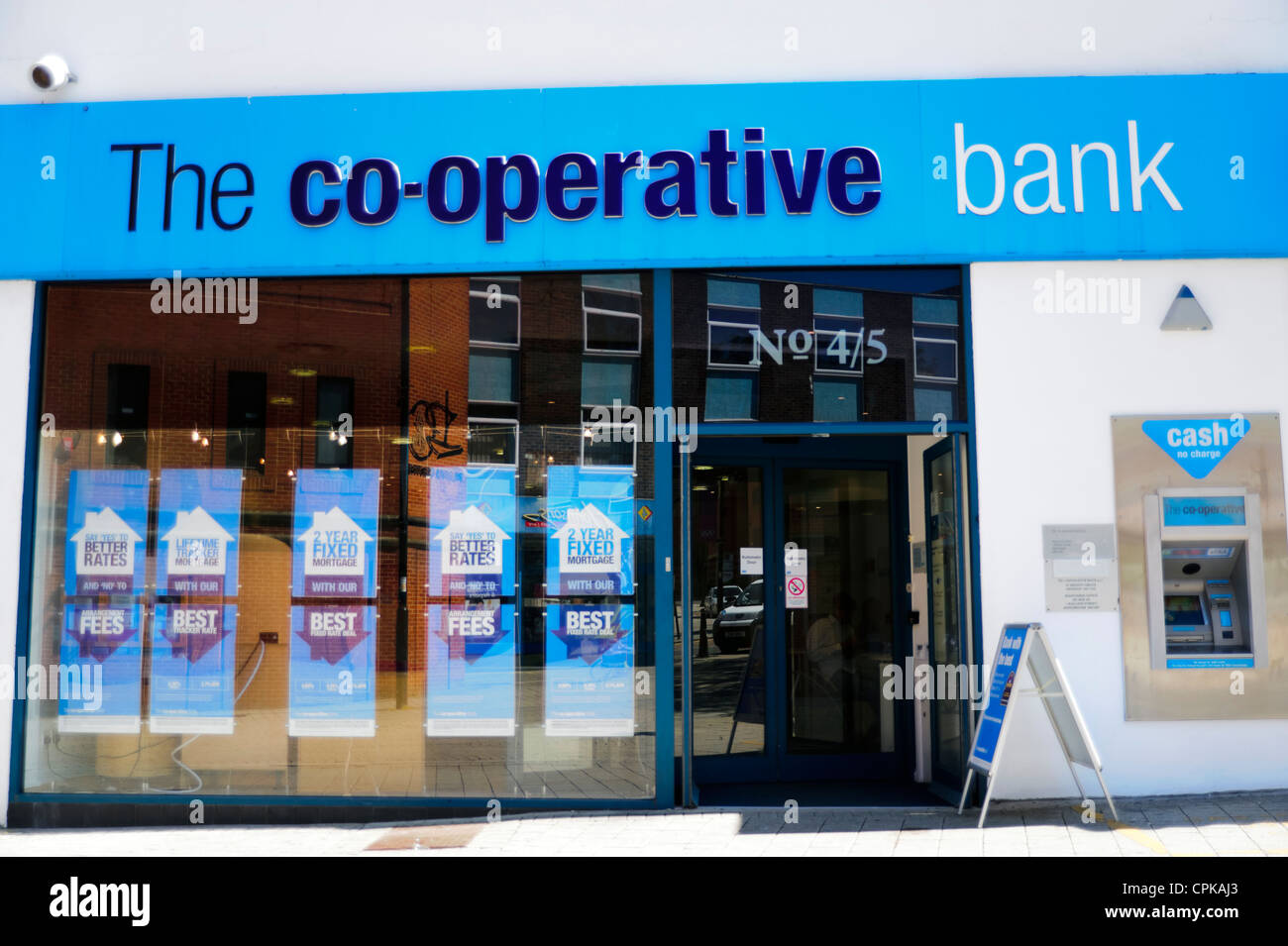 The Co-operative bank in Swindon, UK. - Stock Image