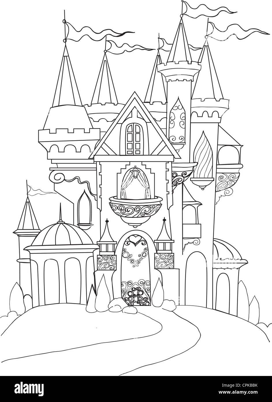Drawing Fairy Tale Castle