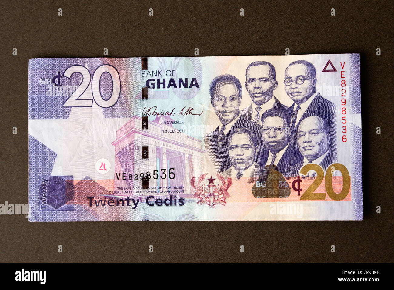 Currency of Ghana (cedi) - Stock Image