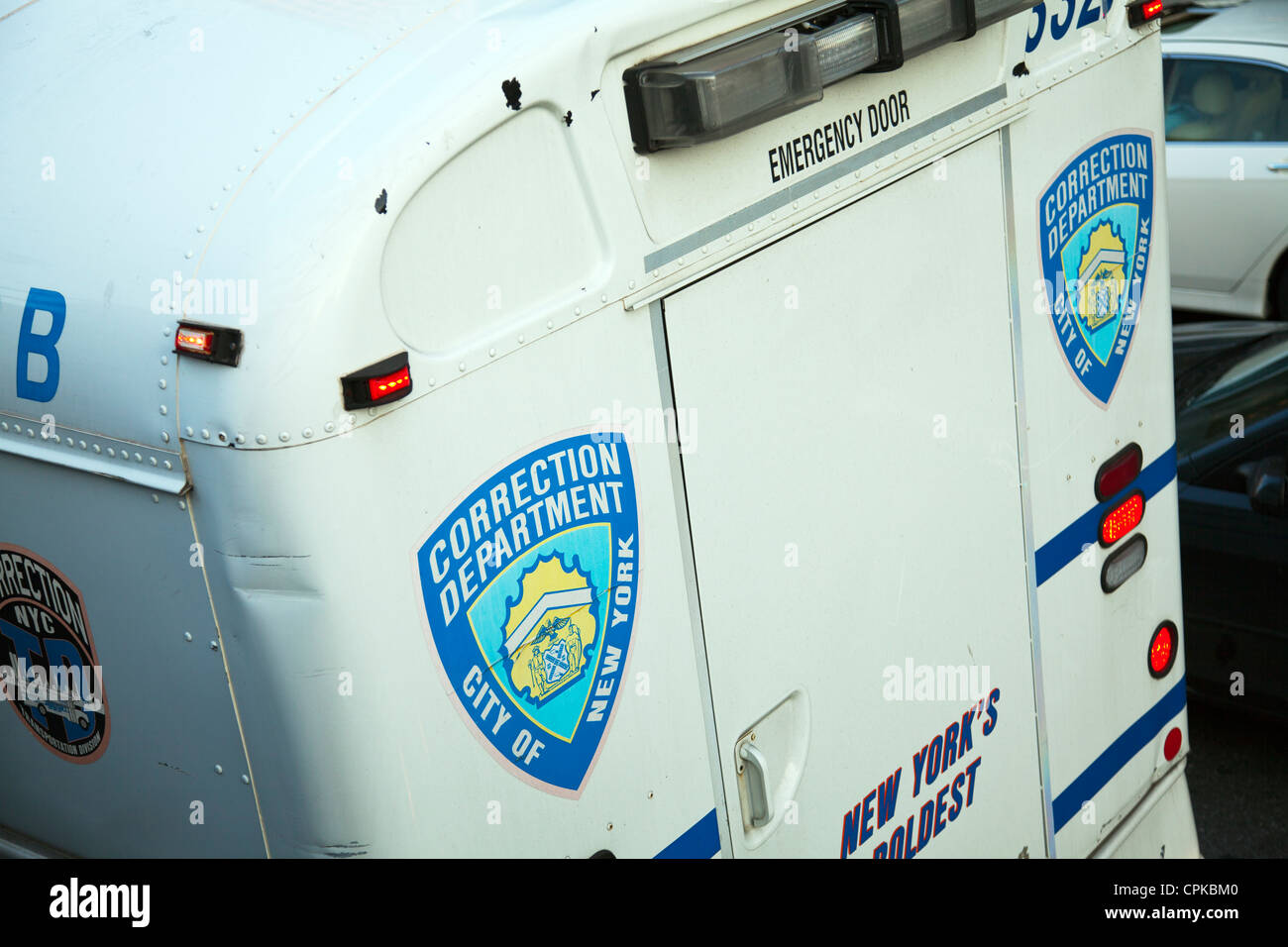 NYPD correction department city of New York felon transportation vehicle - Stock Image