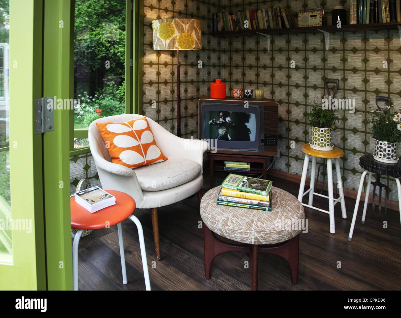 Artisans Retreat Interior By Orla Kiely, RHS Chelsea Flower Show 2012    Stock Image
