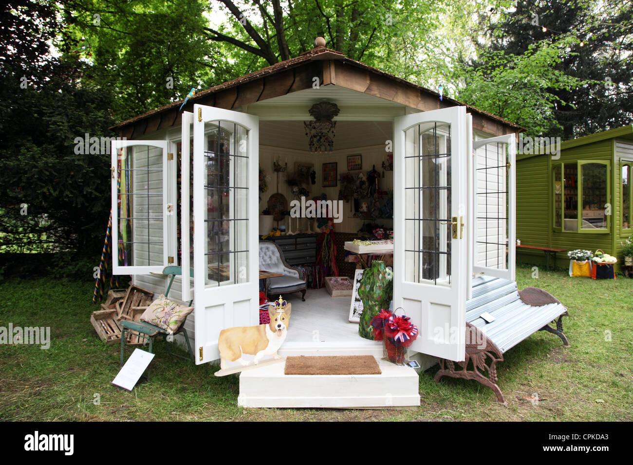Annabel Lewis summerhouse designed for RHS Chelsea Flower Show 2012 Artisans Retreat section - Stock Image