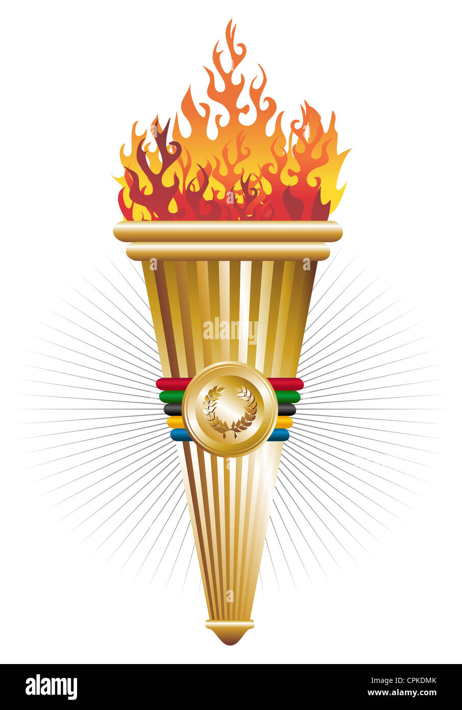 Sports Antorcha Of Triumph Vector Illustration Vector File Layered