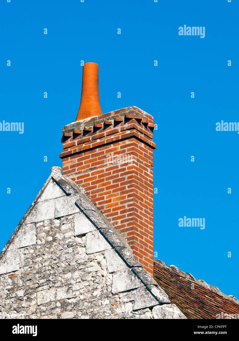Brick Chimney Roof Tiles Stock Photos Amp Brick Chimney Roof