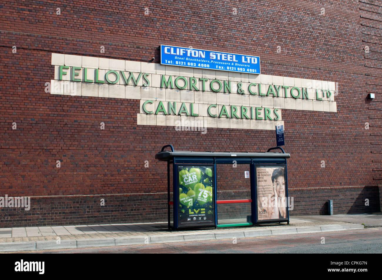 Fellows Morton and Clayton Ltd. building, Digbeth, Birmingham, UK - Stock Image