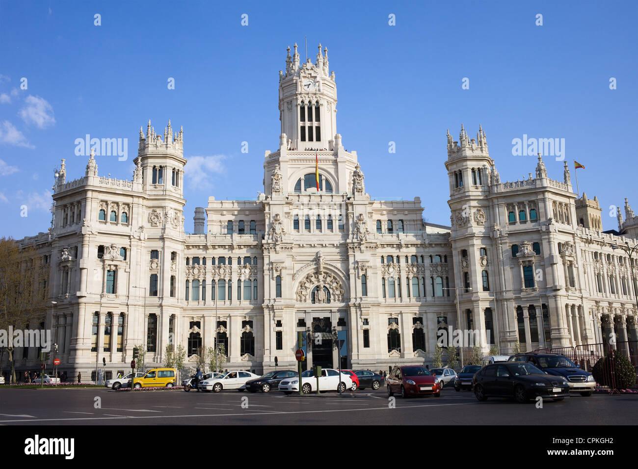 Palacio De Comunicaciones At Plaza De Cibeles In The City Of