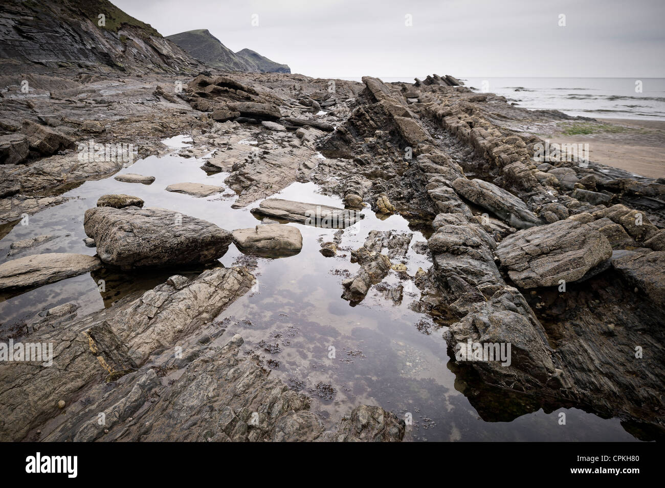 Crackington Haven on the North Cornwall coast - Stock Image