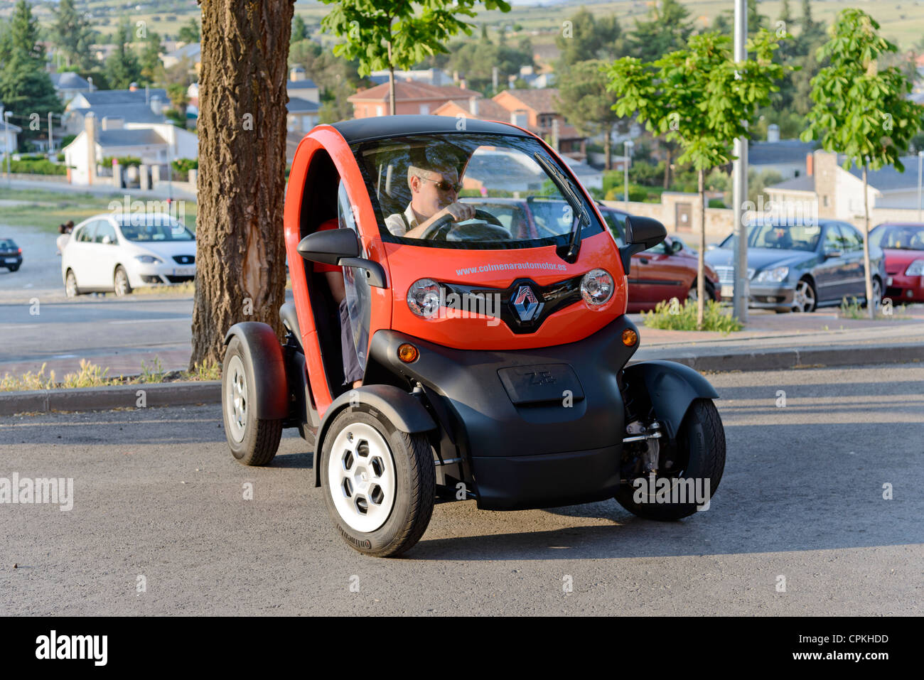 Renault Twizy (production unit) on the street. Stock Photo