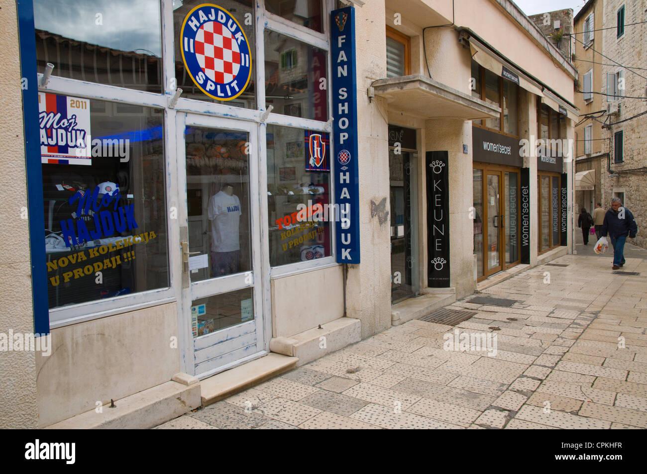 Hajduk Split Football Club Fan Shop In Grad The Old Town Split Stock