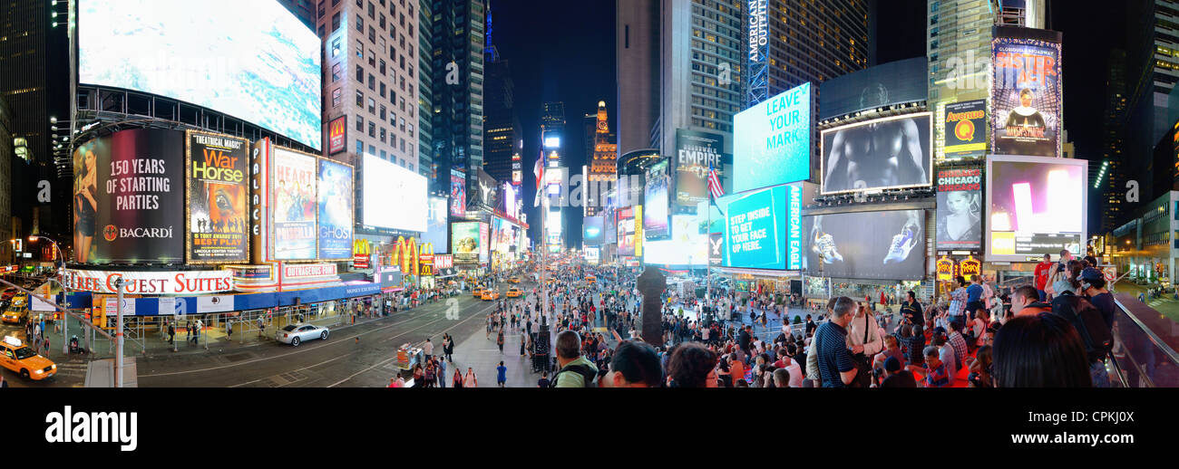 Times Square in New York City. - Stock Image
