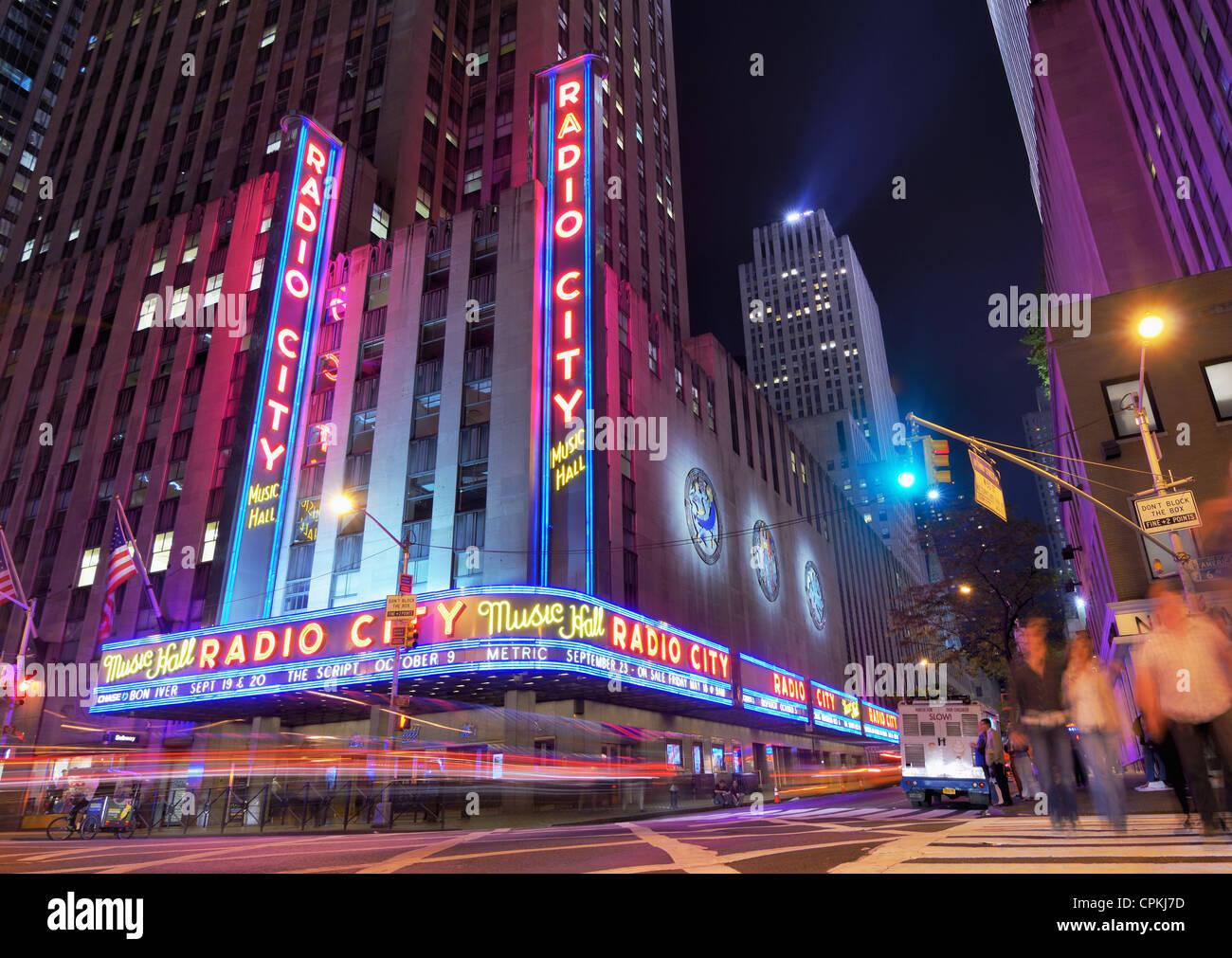 Radio City Music Hall in New York, New York, USA. - Stock Image
