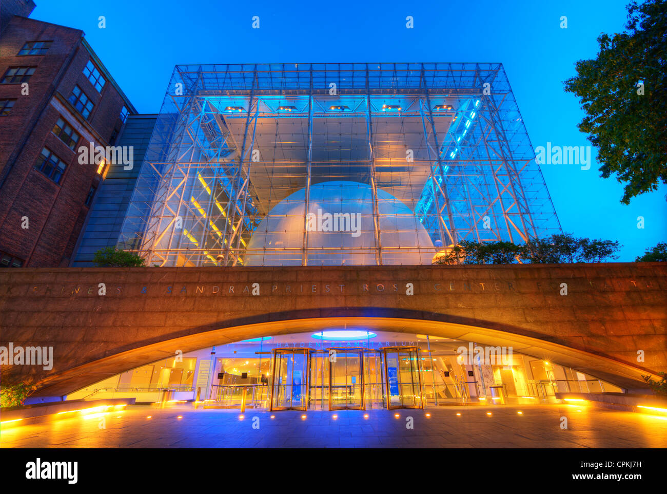 Hayden Planetarium, part of the Rose Center for Earth and Space of the American Museum of Natural History in New - Stock Image