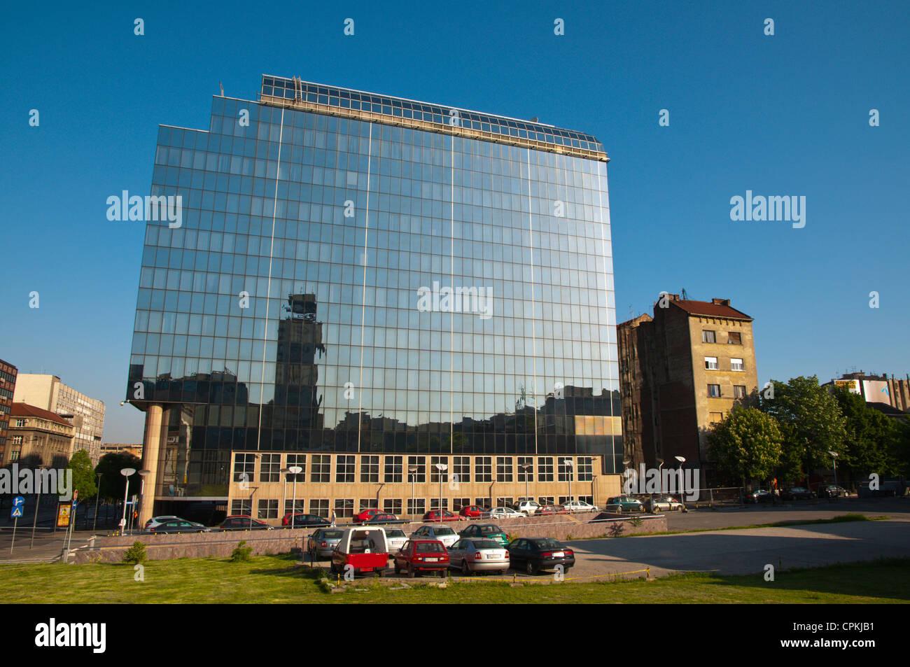 New Serbian National Bank building at Finanskije Park along Nemanjina street central Belgrade Serbia Europe - Stock Image