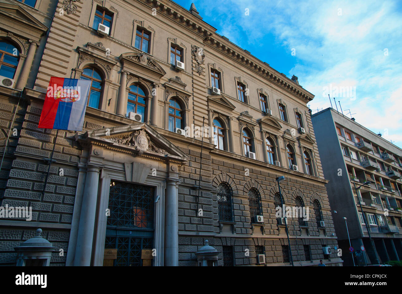 Former National Bank of Serbia in Stari Grad the old town Belgrade Serbia Europe - Stock Image