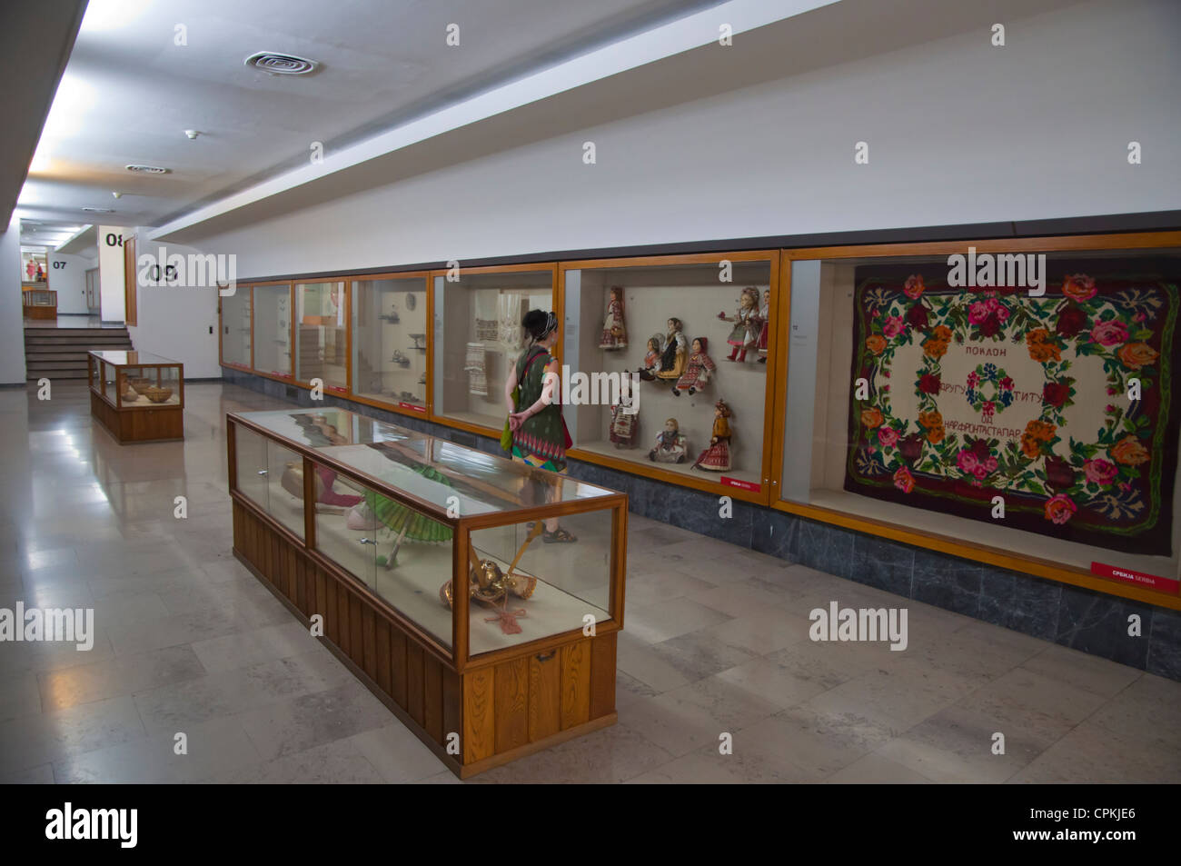 Museum displaying gifts given to former leader Tito in a museum next to House of Flowers Tito's grave Belgrade - Stock Image