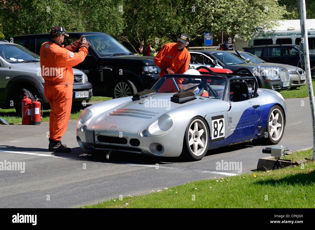 Tvr Sports Car Stock Photos Images Alamy Remote Starter On Start Line At Prescott Hill Climb In Gloucestershire England Uk