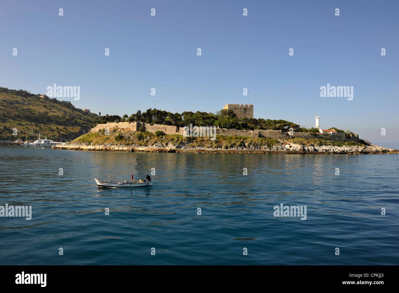 Pigeon island ( Turkish: Güvercin ada ) Kusadasi Turkey 2009. - Stock Image