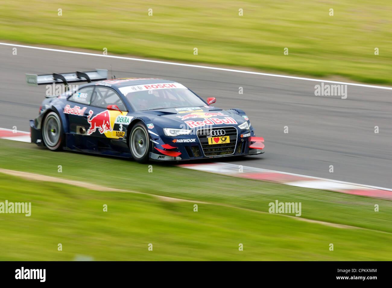 Mattias Ekstrom in an Audi DTM car at Brands Hatch 2012 - Stock Image